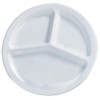 3 Compartment Plates - White