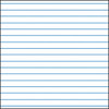 """Raised Narrowlines Paper 3/8"""" Wide Lines - 50 sheets"""
