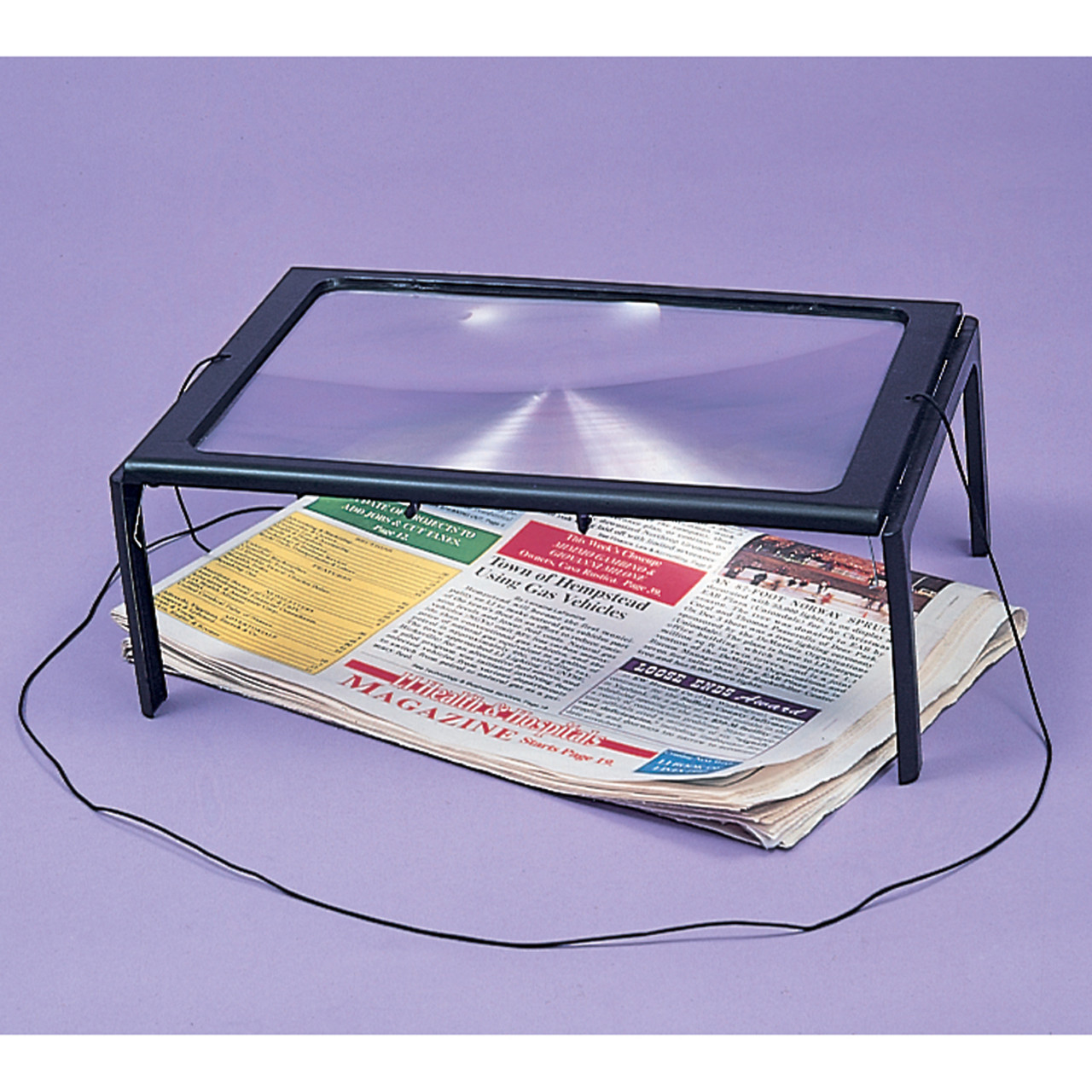 Full Page Magnifier on legs with LED light
