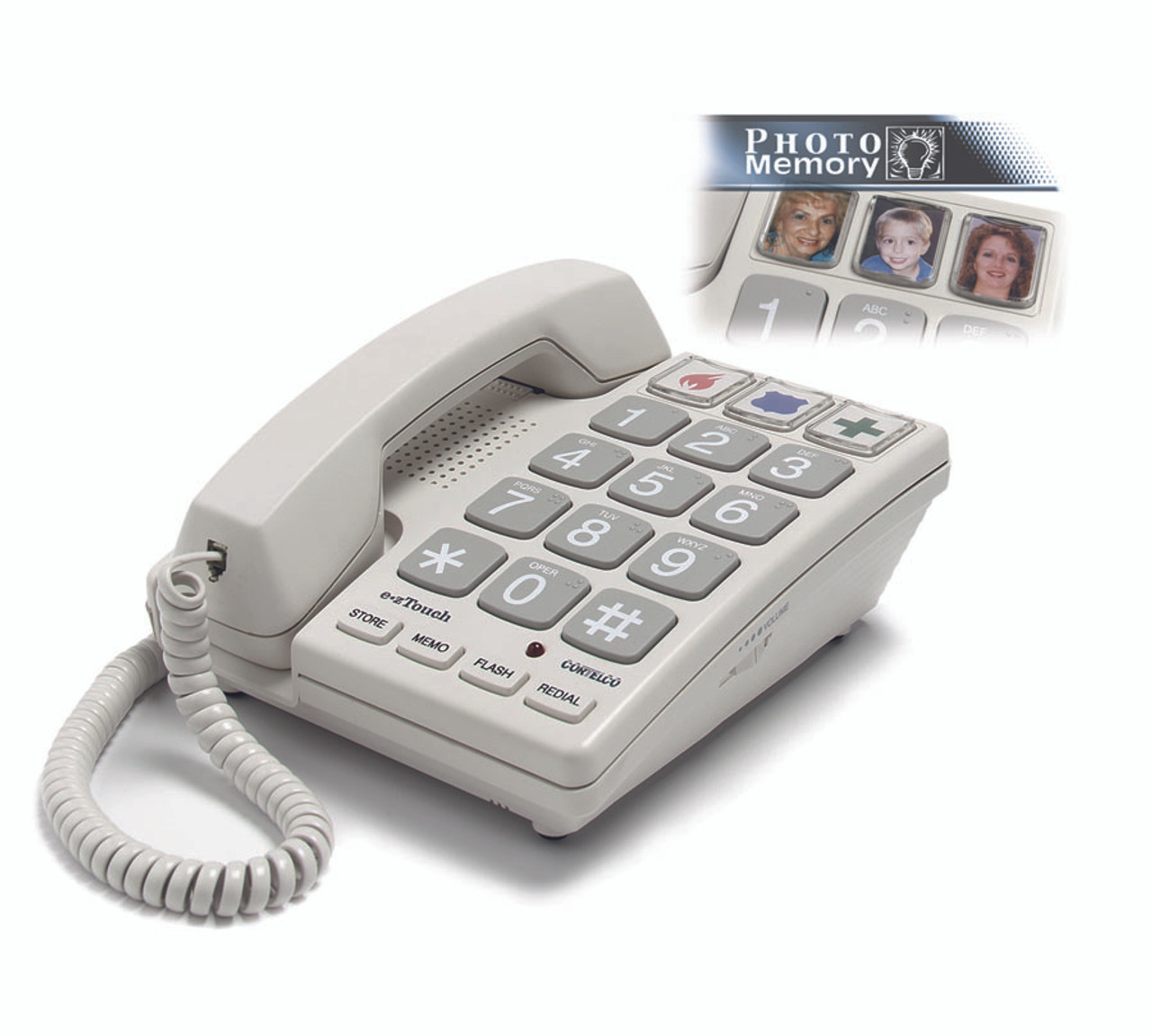 Big Button Corded Phone with Brailled Numbers