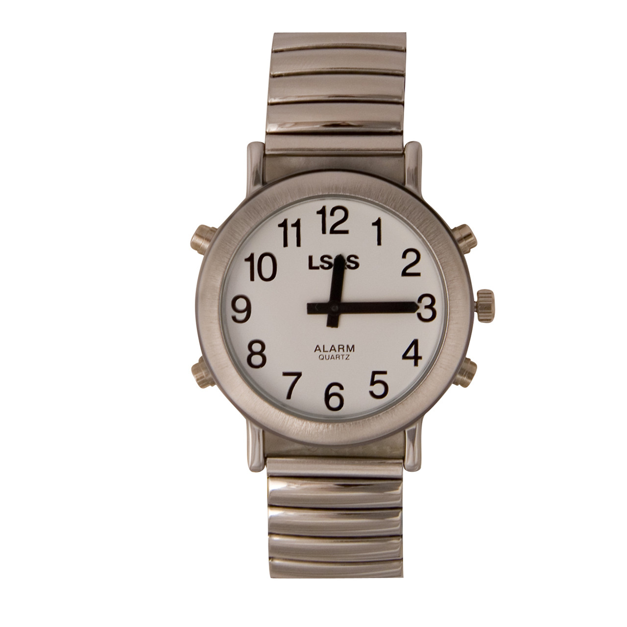 Talking Watch White face, silver color, expansion band