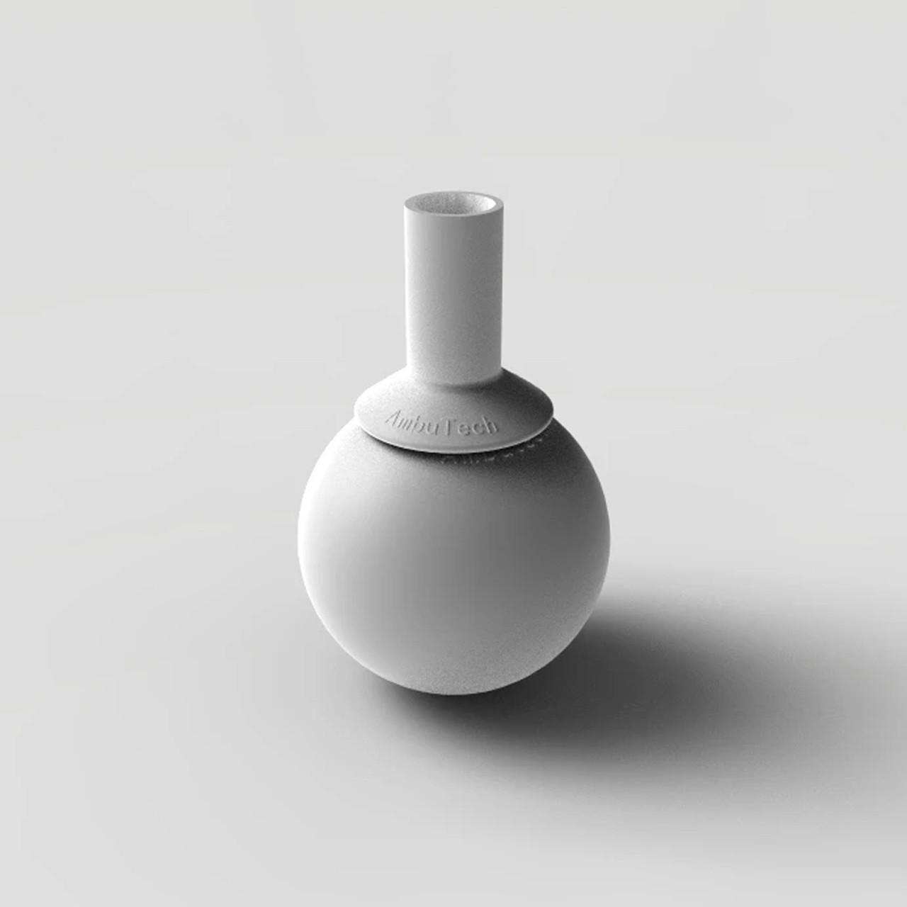Ambutech Slip On Rolling Ball Tip - White