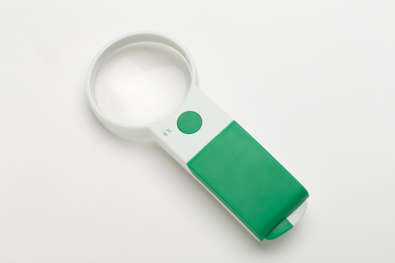 Extra Bright Handheld Magnifier 4X/70mm