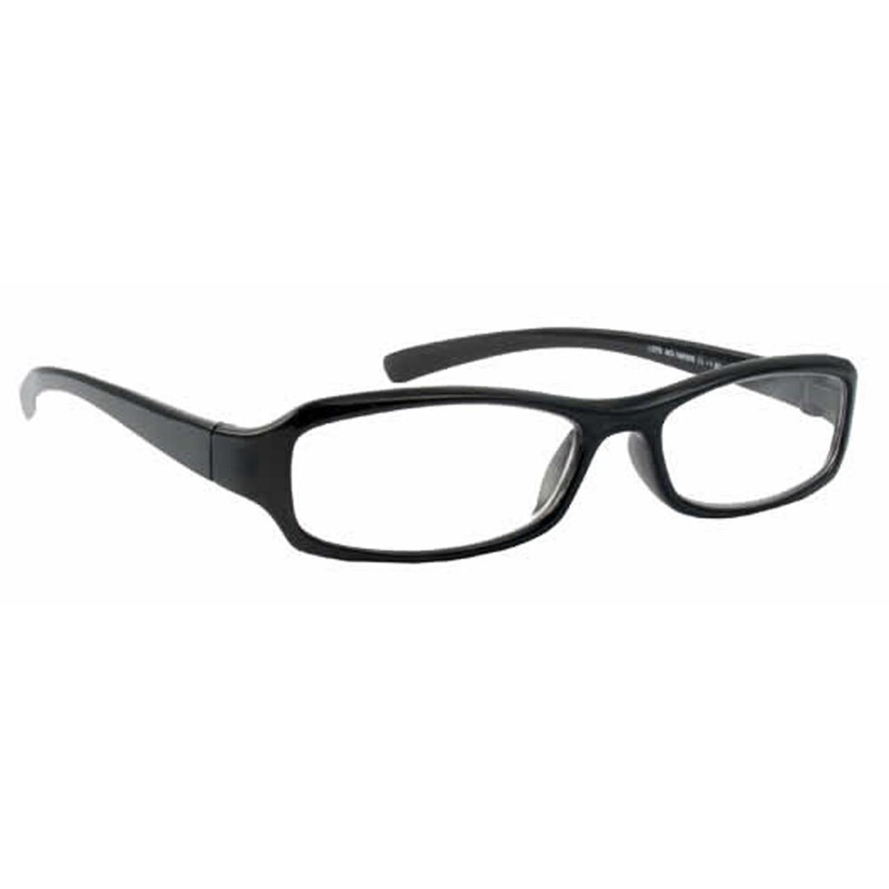Classic Unisex Reading Glasses, Black, +4