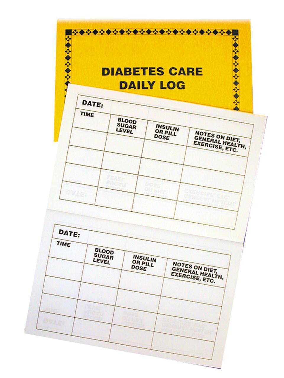 Large Print Diabetes Log
