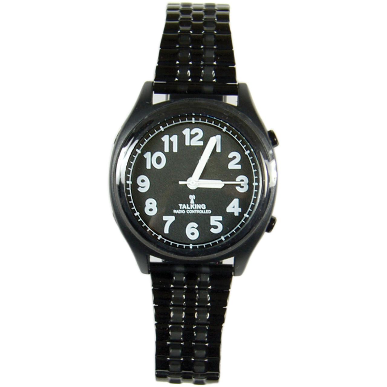 High Contrast Talking Atomic Watch - White on Black