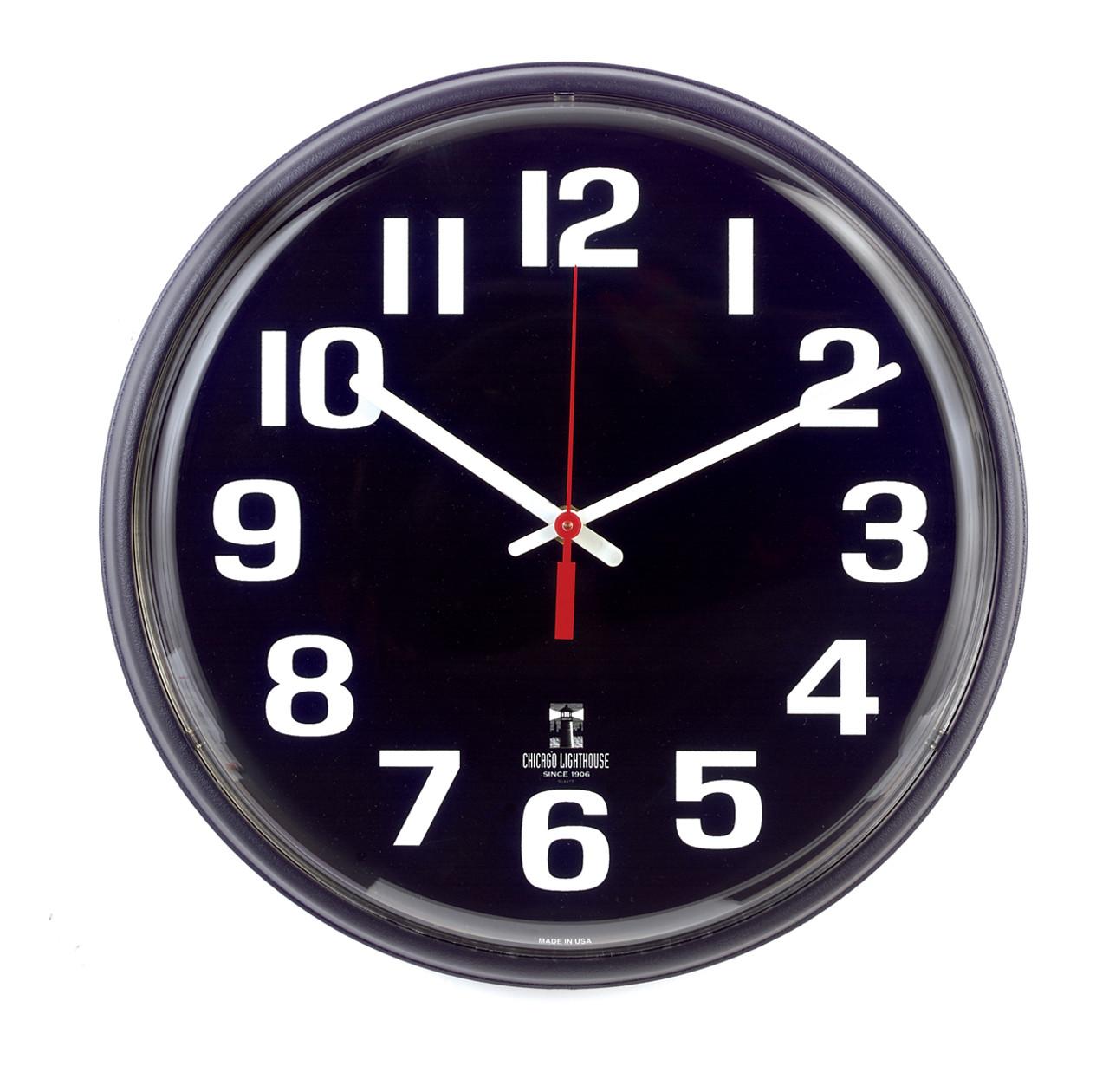 12 Inch Black Face Clock