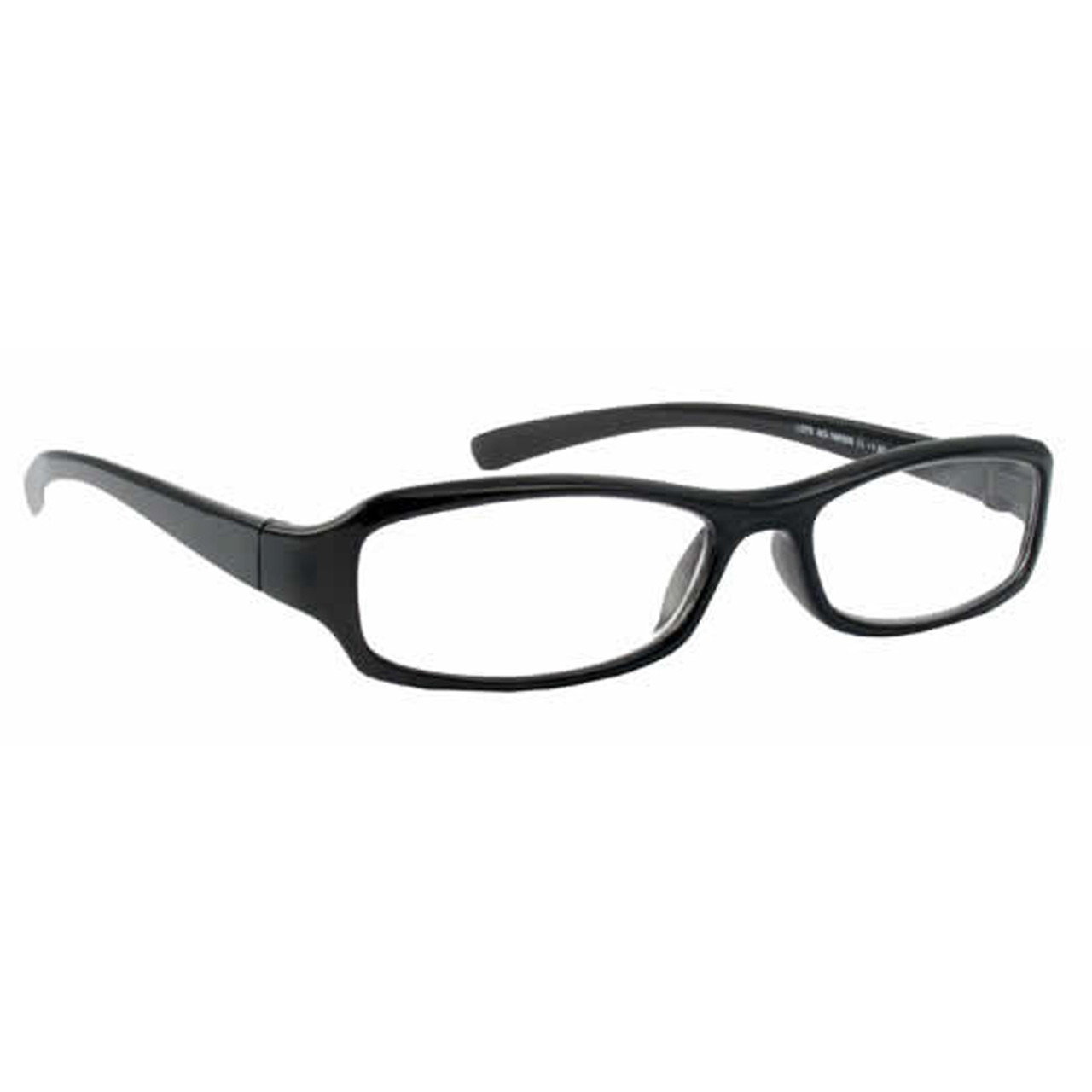Classic Unisex Reading Glasses, Black, +6