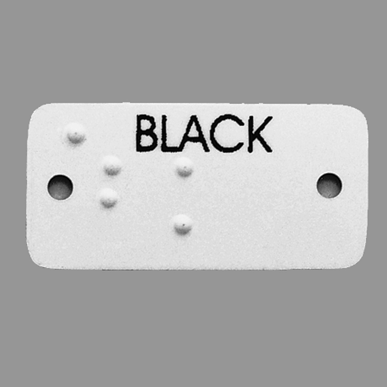 Aluminum Braille Clothing Labels
