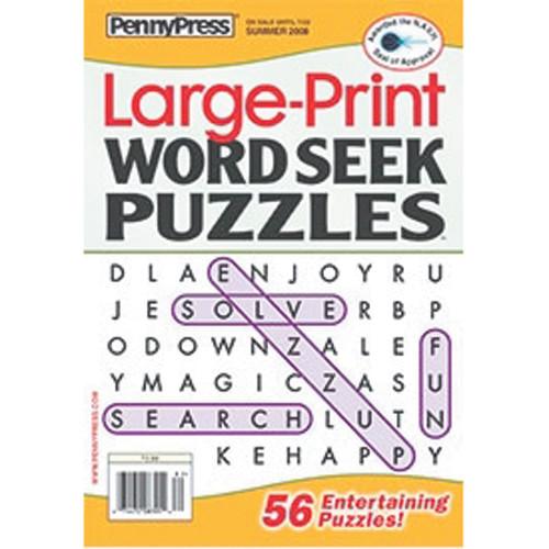 Large Print Word Seek Puzzles