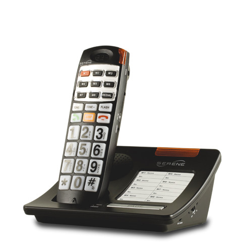 Serene CL-30 Big Button Cordless Phone W/ Talking Caller ID 8 One Touch Dials