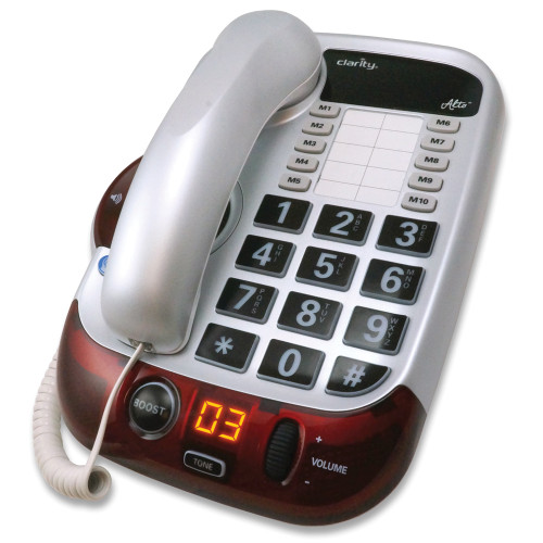 Clarity Alto 53dB Speakerphone with Talking Keypad 10 One Touch Dials