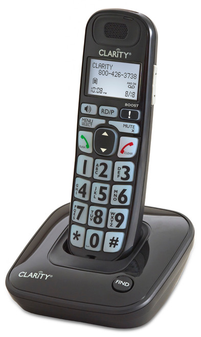 Amplified Cordless Phone with Big Buttons, Clarity D703 35dB