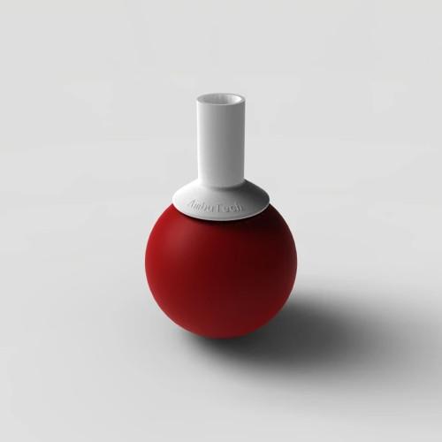 Ambutech Slip On Rolling Ball Tip - Red