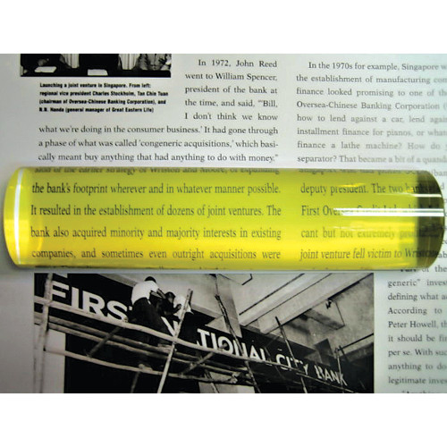 "2X Yellow Bar Magnifier 6"" x 1.5"""