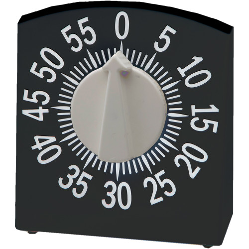 Tactile Low Vision Timer, Black with White Numbers
