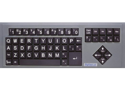 Big Keys Keyboard - Black Keys w/White Letters