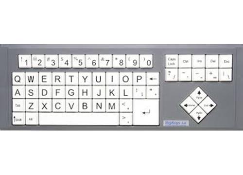 Big Keys Keyboard - White Keys w/Black Letters
