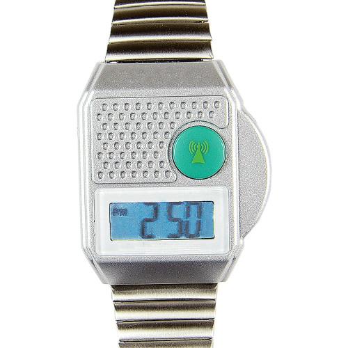 Digital Talking Atomic Watch - Silver Expansion Band