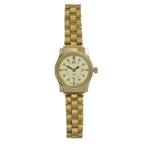 Ladies' Montiel Braille Watch Gold face, gold color, bracelet band