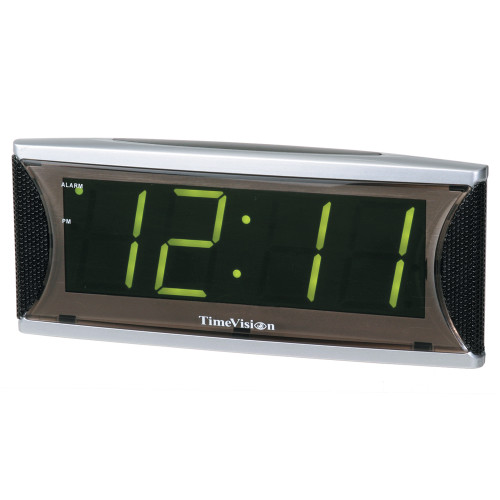 1.8 Green LED Clock with Super Loud Alarm