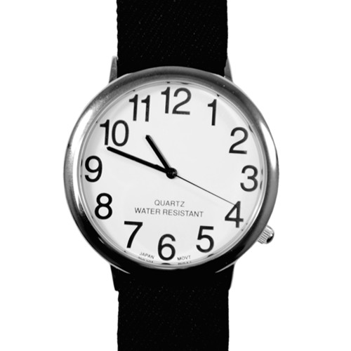 """Unisex Low Vision 2"""" Watch with Fabric Stretch Band"""