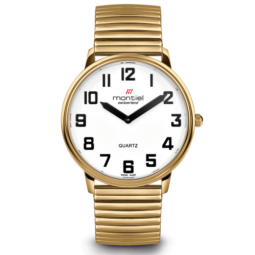Montiel Low Vision Gold Watch with Flex Band