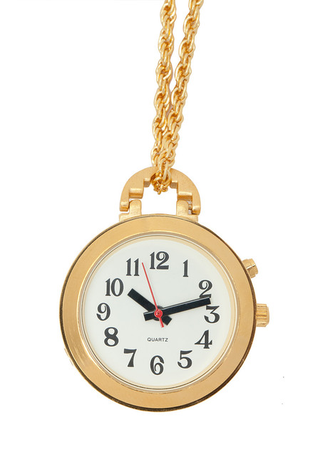 "1 Button Pendant Talking Watch - Gold  With 27"" Chain"
