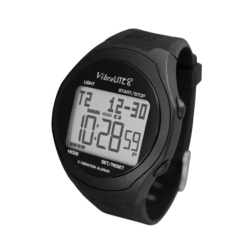 VibraLite 8 Watch with Black Plastic band