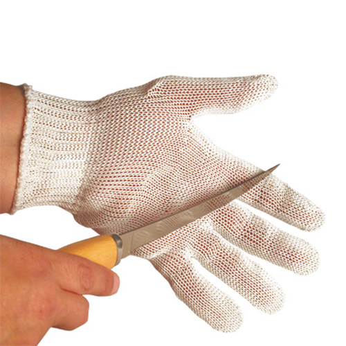 cut resistant glove in use
