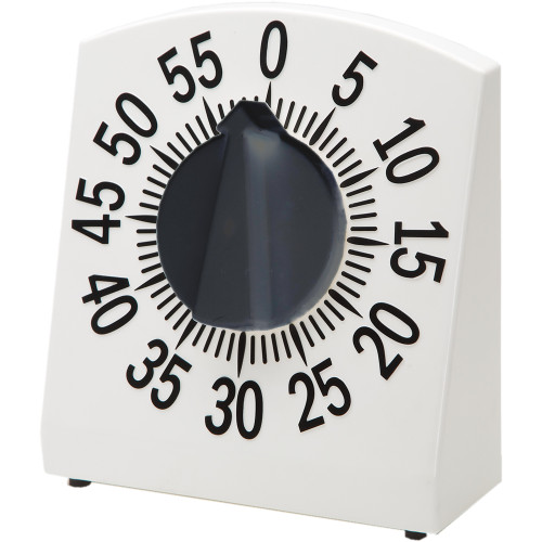 Tactile Low Vision Timer White with Black Numbers