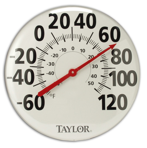 """18"""" LV Analog Indoor/Outdoor Thermometer"""