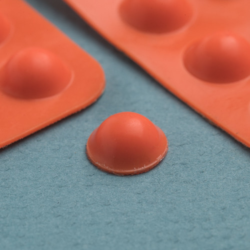 Bump Dot Orange, Round Medium, 25 per pack