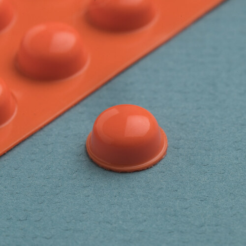 Bump Dot Orange, Round Large 25 per pack