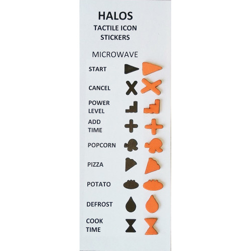 HALOS Tactile Microwave Stickers - 2 sets per pack