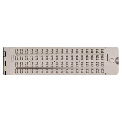 Braille Aluminum Jumbo slate, 4 x 18, pins up and stylus