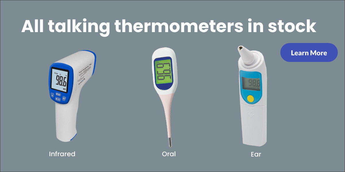 Talking thermometers.  Click here