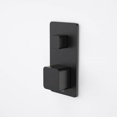 Epic Bloc Progressive Bath/Shower Mixer With Diverter (Black) [152374]