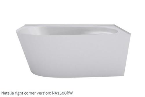 Natalia 1500 Back-To-Left Corner Freestanding Bath [157196]