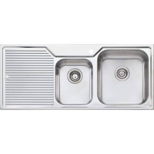 Nu-Petite 1 & 3/4 Bowl Topmount Sink With Drainer [157361]