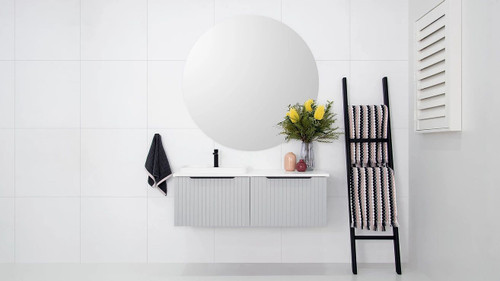 Vanity Ashley W/Hung All Drw 600mm Bamboo (No Basin) [166321]