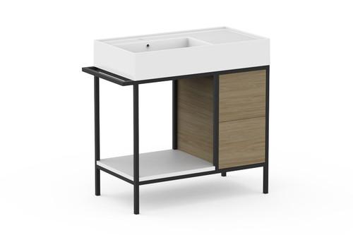 Vanity Antonio Floor Mount 800mm X 440mm L/H Bwl [166331]