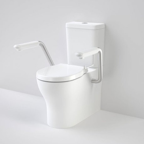 Opal Cleanflush Easy Height Wall Faced Close Coupled Suite With Double Flap Seat And Armrest [166491]