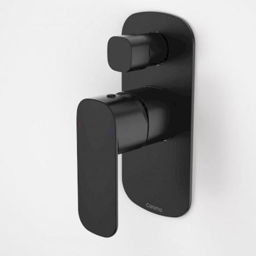 Contura Bath/Shower Mixer With Diverter - Black [166894]
