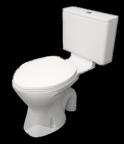 EI Trade Plastic Cistern & Seat & Exposed S Trap Toilet Suite [154302]