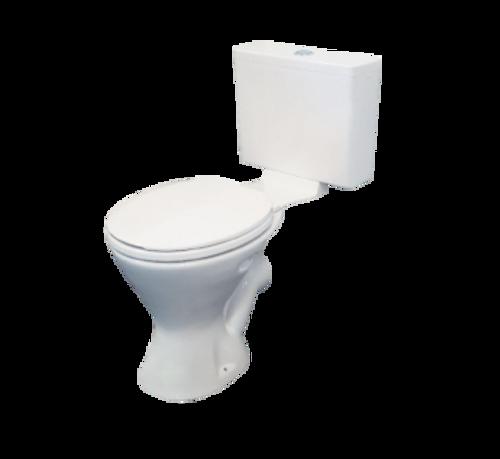 EI Trade Plastic Cistern & Seat & Exposed P Trap Toilet Suite [154303]