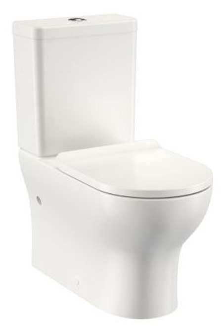 Round Back To Wall Bottom Inlet Toilet Suite with Slimline Seat [156787]