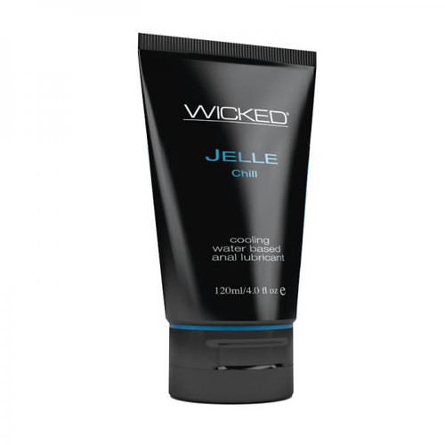 Wicked Jelle Anal Gel Cooling Sensation Lubricant 4oz Tube