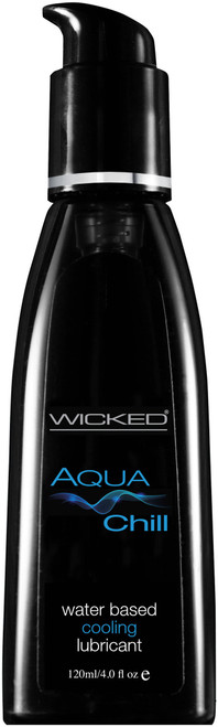 Wicked Aqua Chill Waterbased Cooling Sensation Lubricant