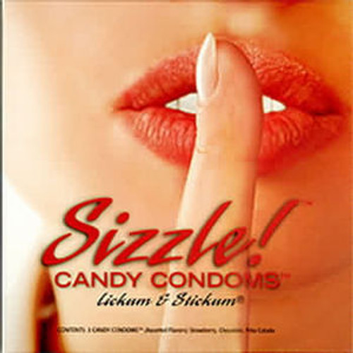 Sizzle! Candy Condoms - 3 Pack